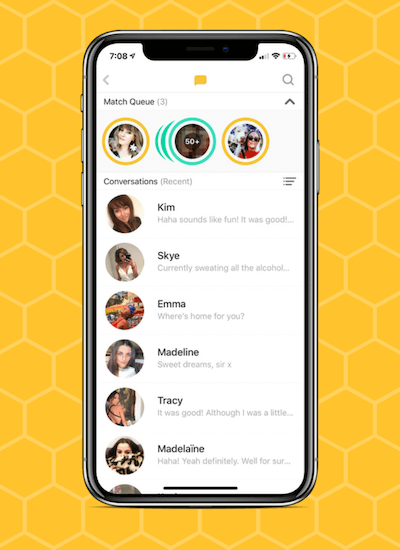How does bumble work match queue