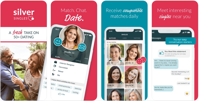 Best Dating Apps For Relationships - Silver Singles app screenshots
