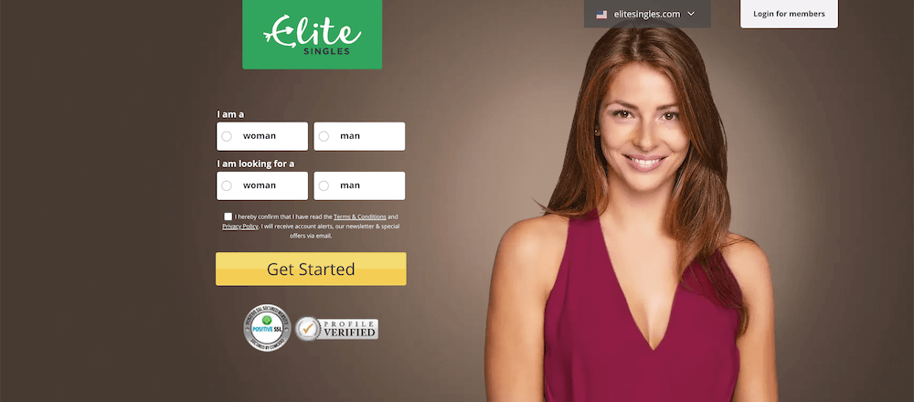 Elite Singles Cost - Web Sign Up Screen