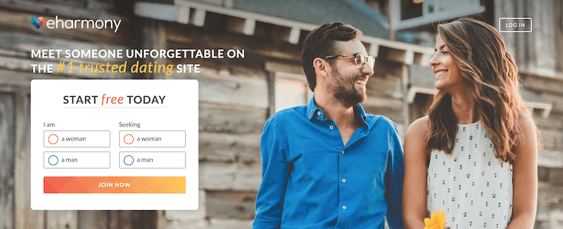 eHarmony Price 2020 - Sign Up Screen