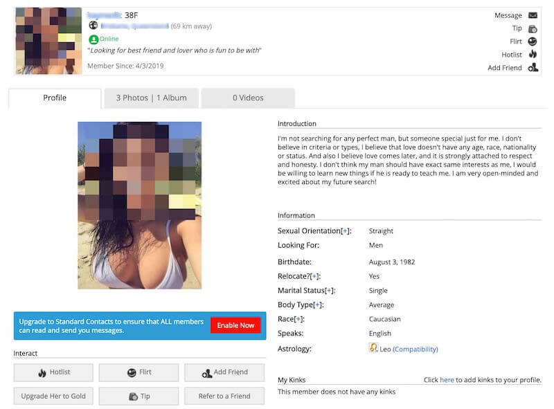 AdultFriendFinder Review Profile