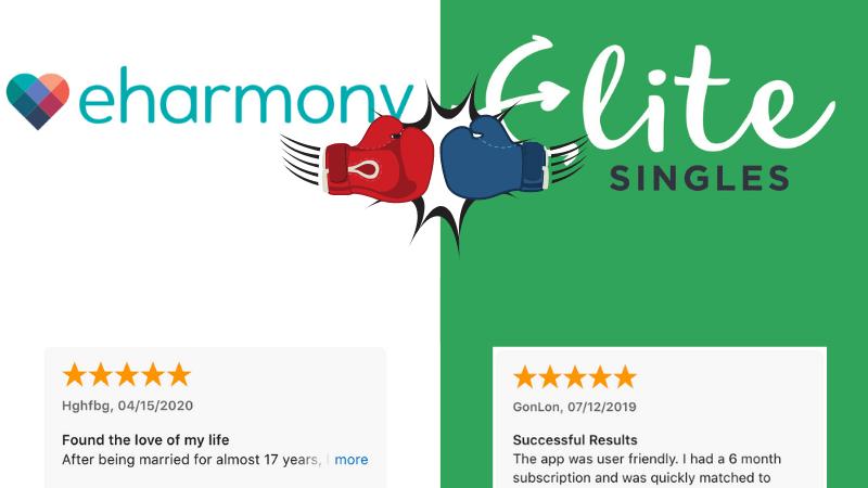 eharmony vs. EliteSingles Success Rate and Reviews