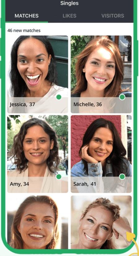 eharmony vs. elite singles - elite singles app screen