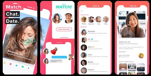 Tinder Rules App Screens
