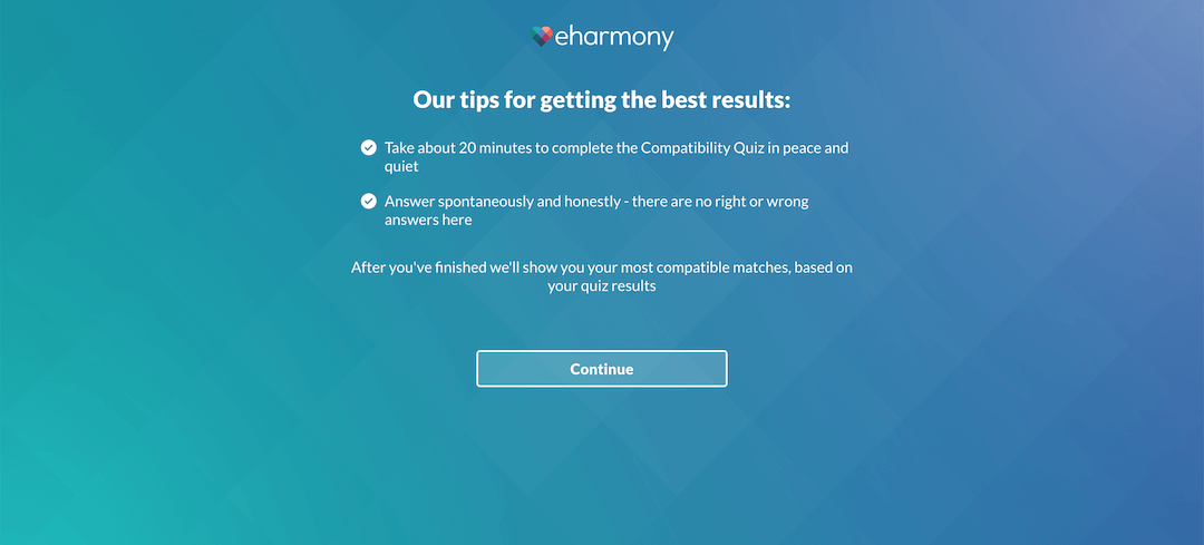 eharmony Review - Quiz Information