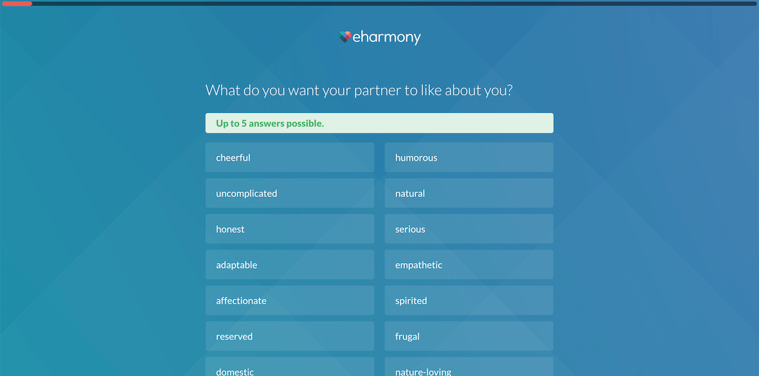 eharmony Review - Quiz Partner Questions