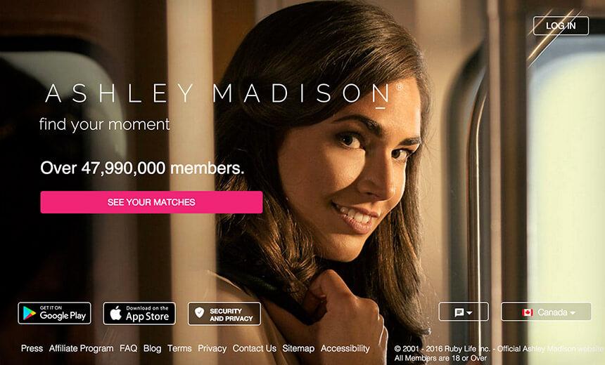 ashley madison homepage woman smiling