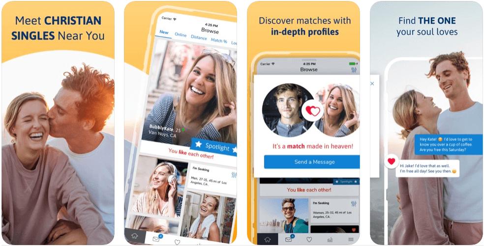 Christian Mingle ads screenshots