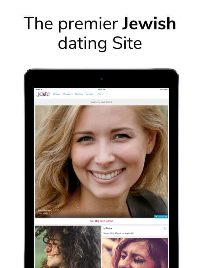 What is Jdate premier dating site tablet screenshot