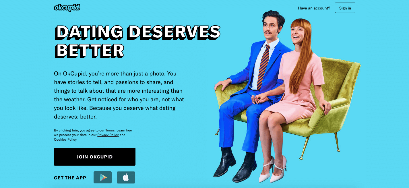 dating deserves better ok cupid homescreen signup