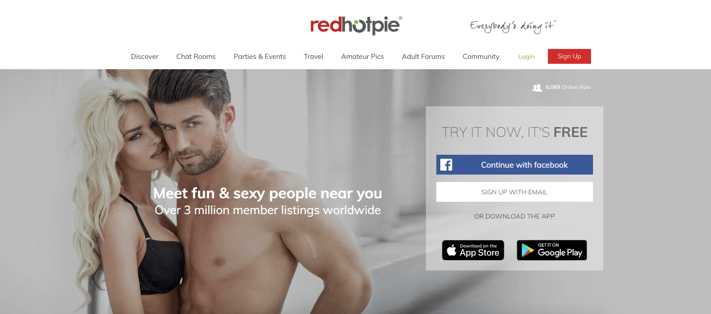what is redhotpie homescreen homepage shirtless man