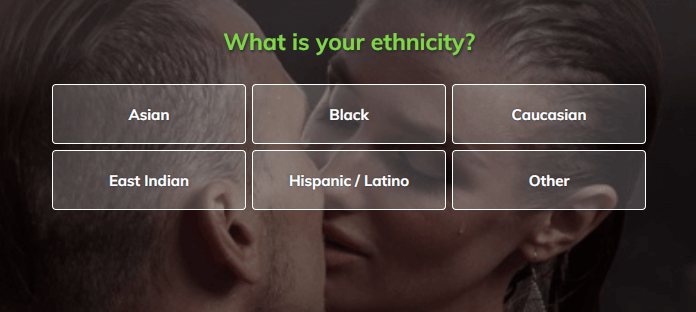 redhotpie profile questions sign up ethnicity options