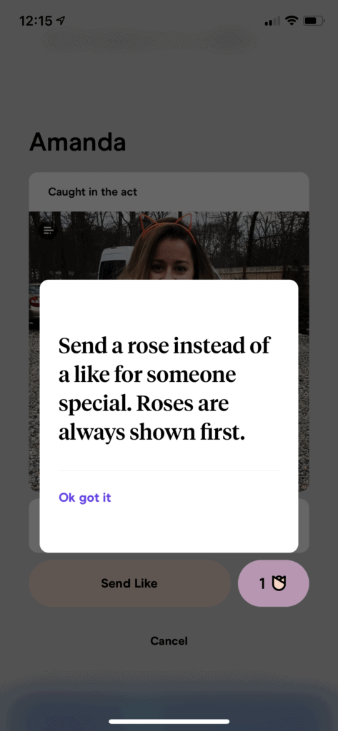 What is the Rose on Hinge - Rose vs Like