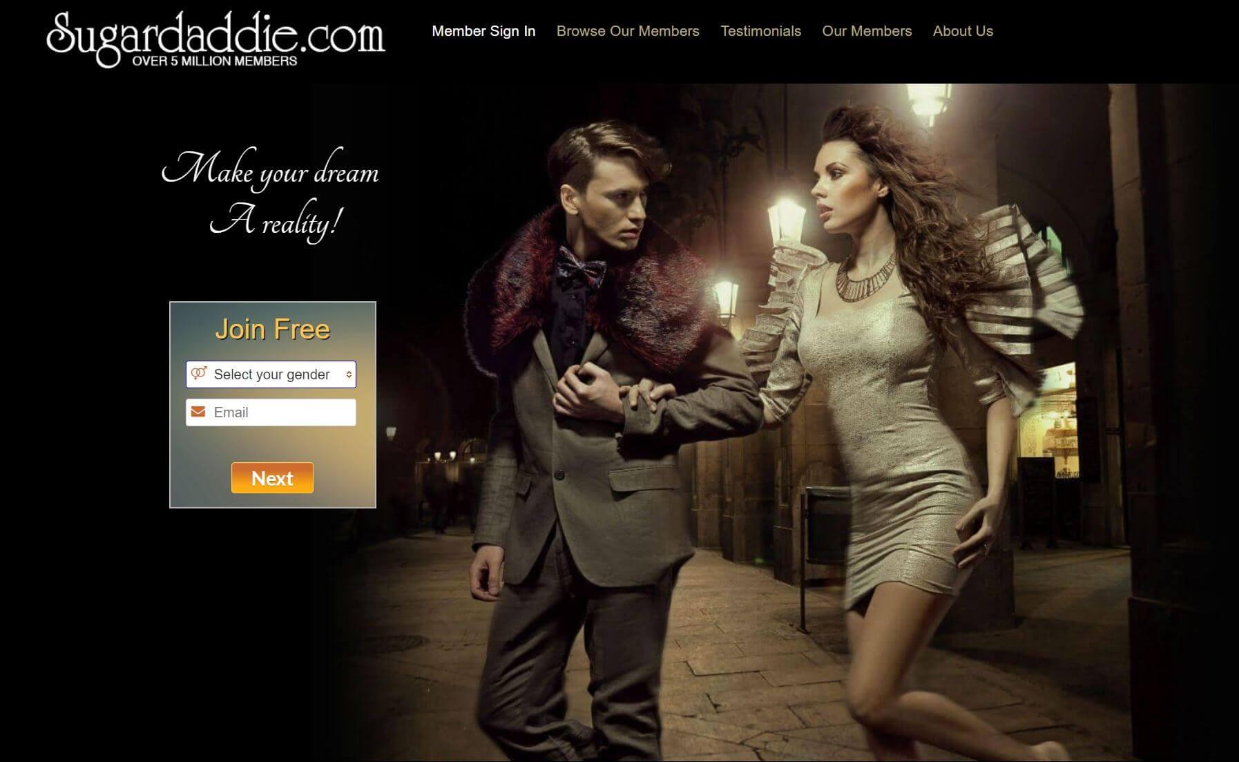 sugar daddie site homepage