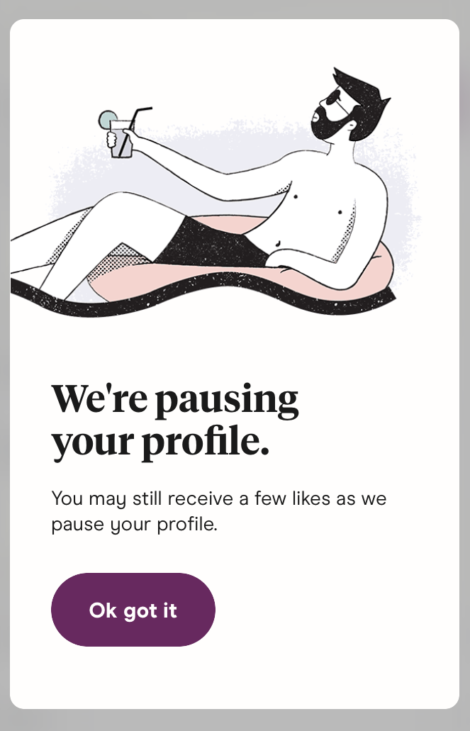 Hinge Pause Your Profile