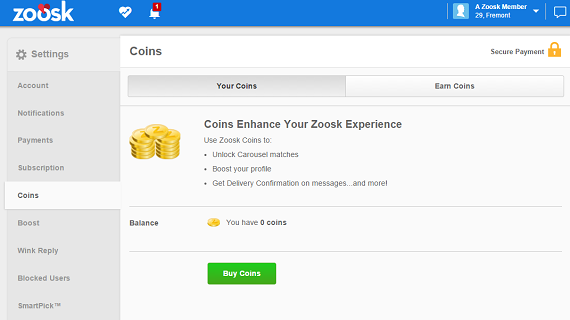 How Many Zoosk Coins Are Needed to Unlock A Conversation On Zoosk - Zoosk Coin Features