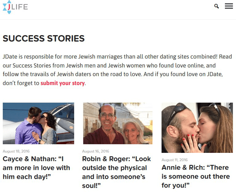 JDate Review - Success Stories