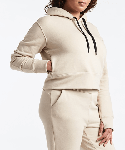 Is A Hike A Good First Date - Public Rec Luxe Fleece Cropped Hoodie