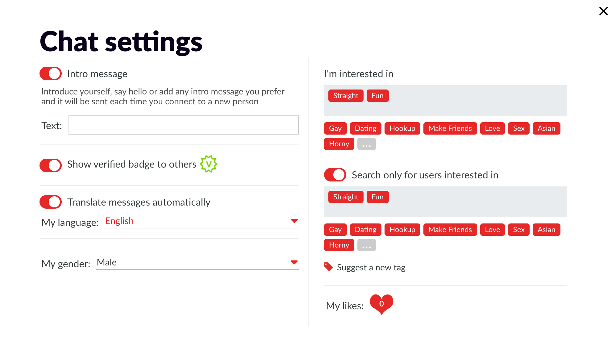 What is Flingster - Chat Settings