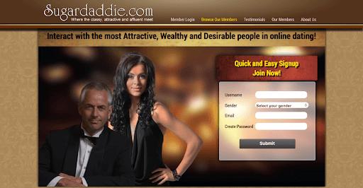 What is SugarDaddie - Homepage