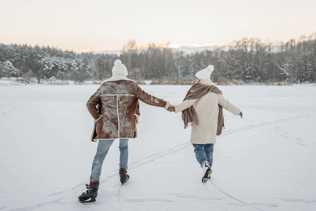 Is Skating A Good First Date - Skating Couple