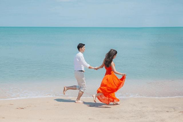 Is The Beach A Good First Date - fun walk at the beach