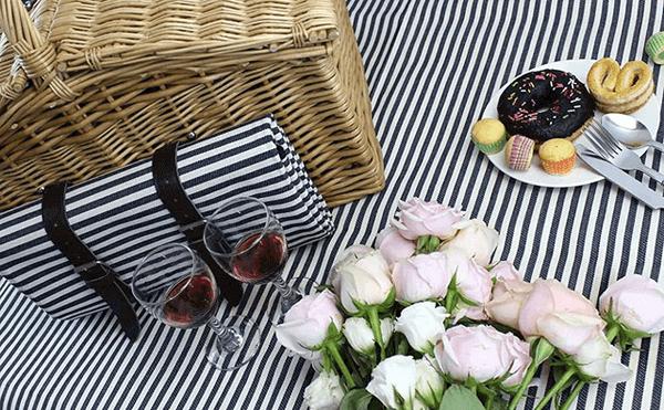 Is The Beach A Good First Date - picnic hamper