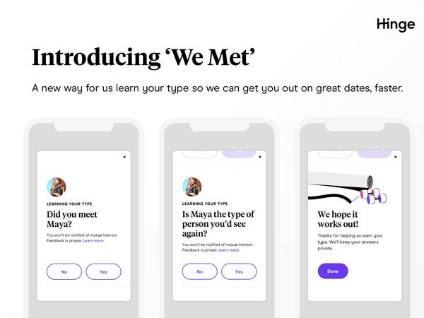 Does Hinge Show You The Same Person Twice - We Met Feature