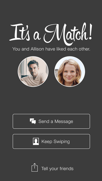 What Does It Mean If Someone Keeps Coming Up On Tinder - Tinder match screen