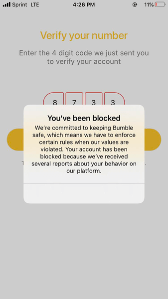Can My Friends See Me On Bumble - Blocked