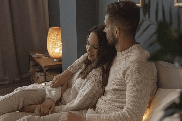 Is A Movie At Home A Good First Date - cozy couple