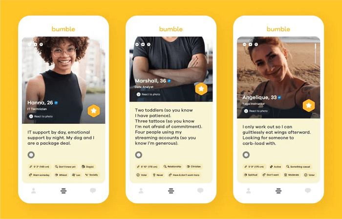 Can You Browse Bumble Without Signing Up - Bumble profiles
